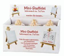 24 x Mini Staffelei mit Leinwand im Display Geburtstag Malen & Basteln
