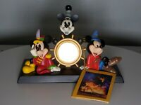 Disney Mickey Mouse Through the Years 75 Years of Love and Laughter Desk Clock