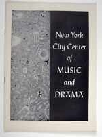 Ballet Playbill Program 1956 New York City LeClerq Swan Lake Leon Barzin