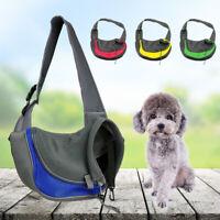 Pet Puppy Dog Mesh Sling Carry Pack Backpack Carrier Travel Tote Shoulder Bag L