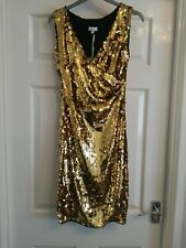 GORGEOUS UNTOLD  SPARKLY GOLD SEQUIN DRESS SIZE 6 RRP £150! BNWT