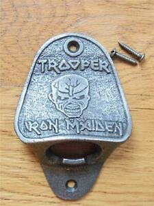 SOLID CAST IRON WALL MOUNTED BOTTLE OPENER IRON MAIDEN TROOPER GARDEN MAN CAVE