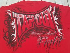 Tapout MMA UFC Mens Tshirt 100% Cotton Red Size XL