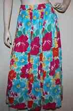 Vtg 90s WeBeBop Floral Print Art To Wear Rayon Skirt sz 1X