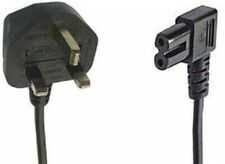 More details for black 10m mains power cable 3 pin moulded uk plug right angled iec c7 figure 8