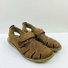 Josef Seibel Size 40 9 9.5 Ida Leather Sandals Loafers Fisherman Touch Fasten