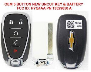 OEM 2018-2021 Chevrolet Equinox Remote START UNCUT Key 5 BUTTON 13529650 HYQ4AA