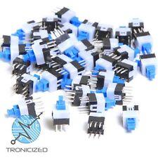 DPDT Push Button Switch Self Latching Locking 6 Pin DIP PCB MOUNT 7 x 7mm