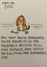 Funny College Graduation Congratulations Card - From the Dog