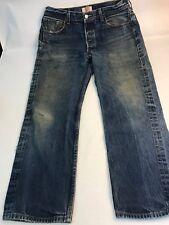 Vintage Levis 35x30 501 Denim Jeans Red Tabs Distressed