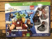 Xbox One Disney Infinity Marvel Heroes 2.0 Starter Pack Game Base Figures Open B