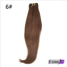 "16-28"" Ponytail Human Hair Clip In Extensions Straight Wrap Around Ponytail 100g"