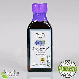 RAW BLACK SEED OIL - Black Cumin (Nigella sativa), Cold Pressed Ol'Vita