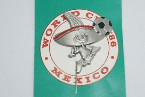 """Collectible Sports Lapel Pin - FIFA World Cup Mexico 1986 Mascot Pewter """"PIQUE"""""""