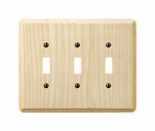 Amerelle  Contemporary  Unfinished  3 gang Wood  Toggle  Wall Plate  1 pk