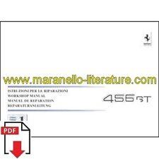 1993-1996 Ferrari 456 GT workshop manual vol1 809/93 PDF (it/fr/uk/de)