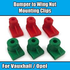 10x Clips Für Vauxhall Opel Stoßstange zu Flügelmutter Befestigung Kunststoff 1235884 2444 9408