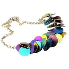 Giampouras 50051 ~ Sterling Silver & Anodized Colored Titanium Necklace
