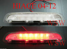 Clear Tail Light High Mounted Stop Brake Lamp Light LED Toyota Hiace 2005-2014