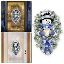 Warm Winter Welcome Snowman Wreath Stickers Christmas Door Window Decals N EW