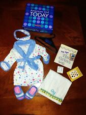 American Girl Doll - GOT Bubble Robe Slippers Outfit Bath +box & extras DKOT