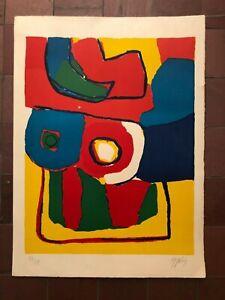 """Karel Appel Signed Lithograph - """"Le Coup de Pied"""" 1969"""