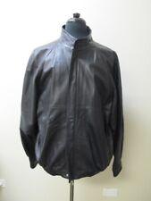 BRUNOMAGLI Black Long Sleeves Pockets Full Zip Casual Jacket Sz 46 HH1637