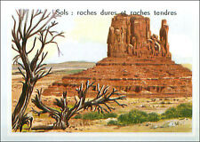 IMAGE CARD Sols Roches Roches Tendres Death Valley California Californie USA 60s