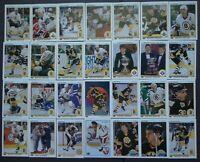 1990-91 Upper Deck UD Boston Bruins Team Set of 28 Hockey Cards