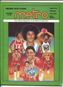 Virginia Tech Classic NCAA Basketball Game Program 12/18/1980-Cassell Coliseu...