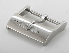 Breitling Stainless Steel 20mm Raised Logo Watch Strap Tang Buckle, 100% Genuine