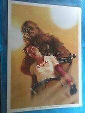 STAR WARS ILLUSTRATION DE DELL OTTO CHEWBACCA 24 CM X 34 CM R6 PORTFOLIO DESSIN