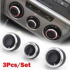 Black Aluminium Heater Knobs Buttons -VW Golf/Jetta/Passat/Caddy/Scirocco-UK