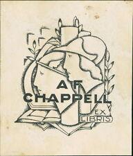 'A F Chappell'  Bookplate (JC.172)