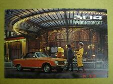 PEUGEOT  304 Coupé - Cabriolet  brochure / Prospekt  1972.