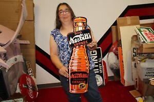 "Large Nesbitt's 5c Orange Soda Pop Gas Oil 29"" Porcelain Metal Sign"