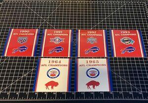 Buffalo Bills AFC AFL Championship Super Bowl Replica Decals NFL