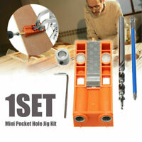 1 set Mini Pocket Hole Jig Kit W/ Step Drill Bit Style Woodworking Joint Tool
