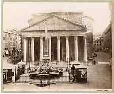 Sommer. Italie, Roma, Panteon  Vintage albumen print  Tirage albuminé  20x25
