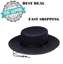 b35079a98add5 Flat Brim Hat One Size Fits Most Adult Men Costume Hats Black Thick Felt  Amish