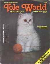Tole World Magazine Jan Feb 1985 Mother Goose Clock Valentine Jelly Jar Tote Cat