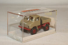 BREKINA MERCEDES BENZ UNIMOG, TAN & RED, NICE, ORIGINAL