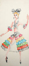 Operetta costume watercolor design  ''The Csárdás Princess'' Emmerich Kalman