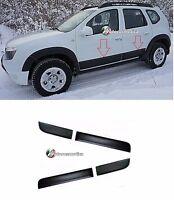 4 x Door Planks/Door Protection Strips for Dacia Duster Black  New