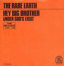 """RARE EARTH – Hey Big Brother (1971 VINYL SINGLE 7"""" DUTCH ONLY PS)"""