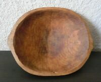♡ Lovely Antique wooden hewn-hand Sorely carved Butter BOWL nice old Woodenware