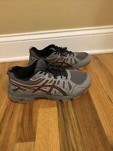 Asics Gel-Venture 7 Mens Grey/Orange Running Lace Up Shoes Size 8