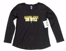 ASU Arizona State University Women's Gray LS Lightweight Sun Devils Top XL $25