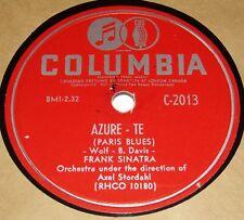 Columbia C2013 Frank Sinatra Azure Te / Bim Bam Baby 78 RPM E E