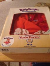 teddy ruxpin 1985 World of Wonders sleeping outfit In Box nightcap Robe pajamas
